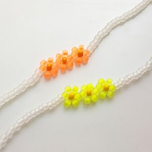 neon color flower silver bracelets ★일주일 10%할인&무료배송★